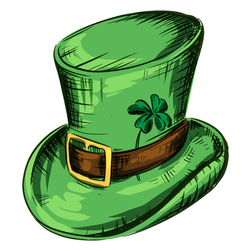 St patricks day hat with clover leaf Transparent PNG