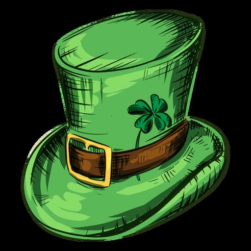 St patricks day hat with clover leaf