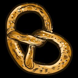 Twirly pretzel bread