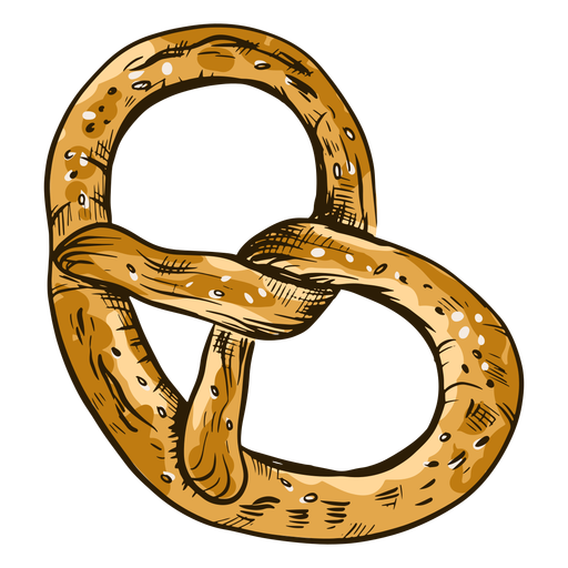 Twirly pretzel bread Transparent PNG