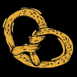 Twirly pretzel drawn