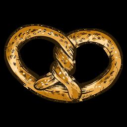Twirly pretzel with sesame seeds