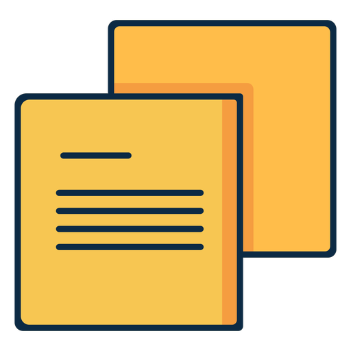 Two paper parchments icon