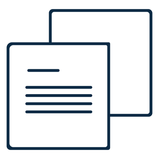 Two paper parchments icon stroke
