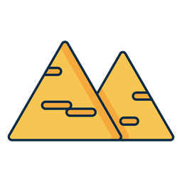 Icono de dos triángulos de queso