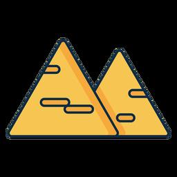 Icono de queso de dos triángulos