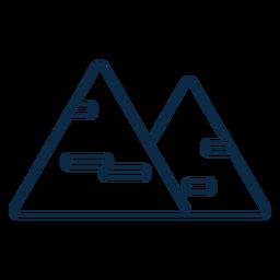 Trazo de icono de dos triángulos de queso
