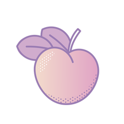 Vaporwave peach fruit