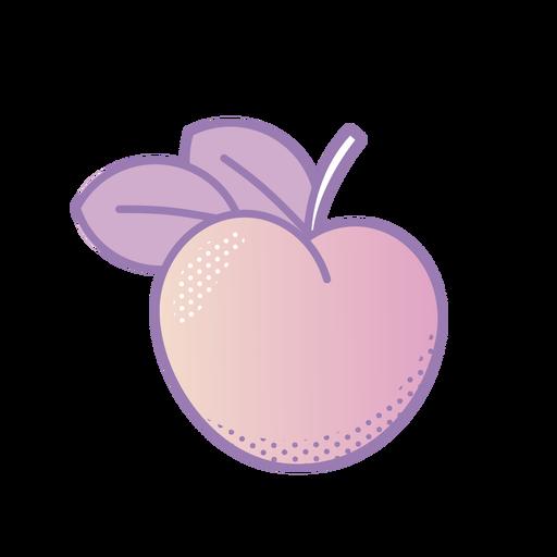 Vaporwave peach fruit