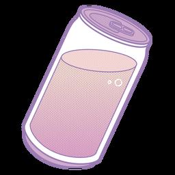 Lata de refrigerante Vaporwave