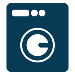 Lavadora lavandería azul