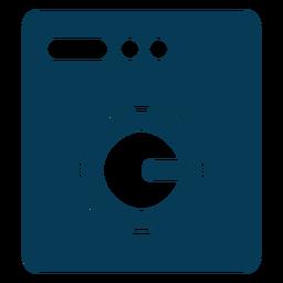 Máquina de lavar roupa azul