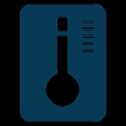 Temperatura del agua azul de lavandería
