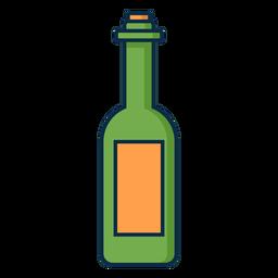 Ícone verde garrafa de vinho