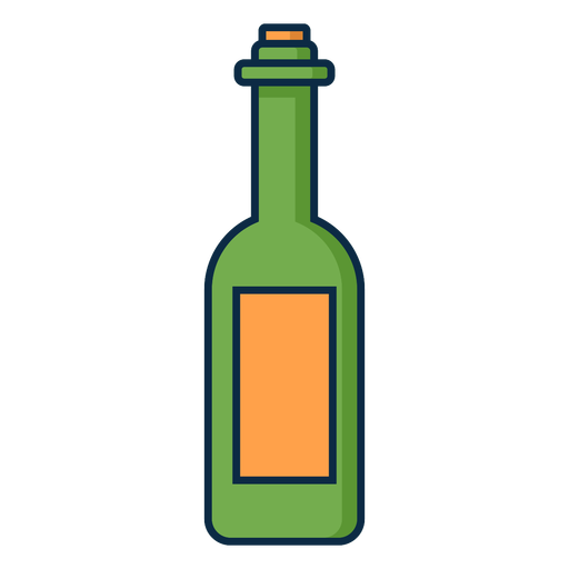 Icono de botella de vino verde Transparent PNG