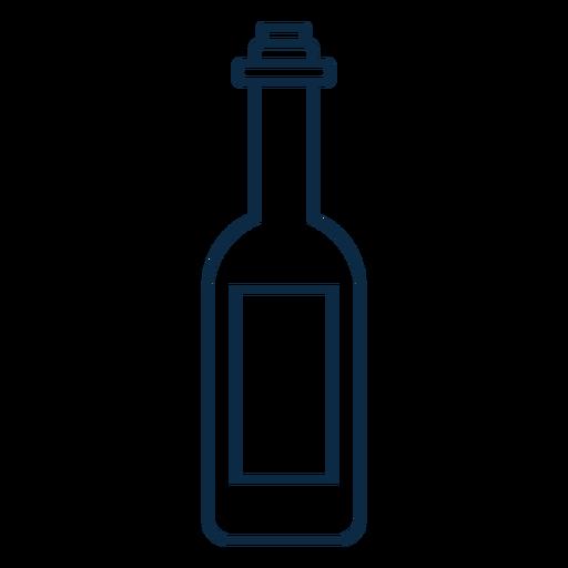 Icono de botella de vino trazo Transparent PNG