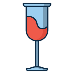 Copo de vinho ícone de vidro