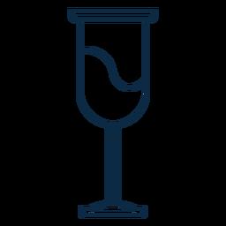 Curso de ícone de copo de vinho
