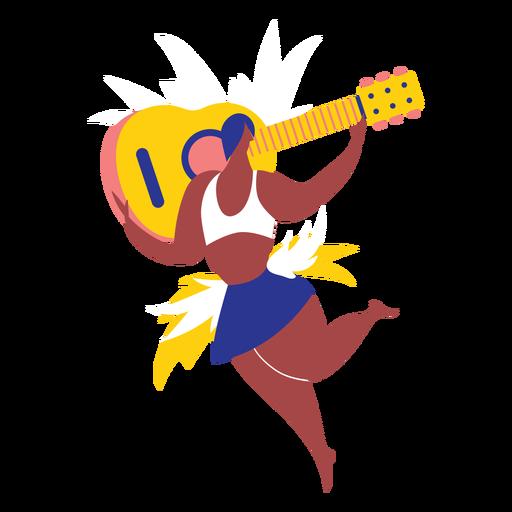 Carnaval de mujer con guitarra