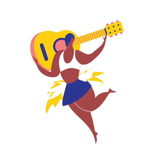 Woman carnival with guitar