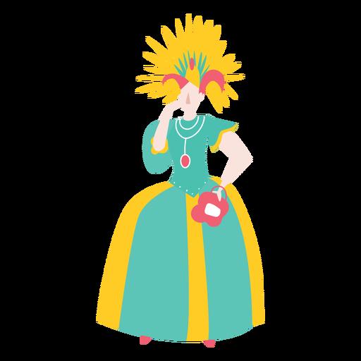 Carnaval de disfraces de mujer