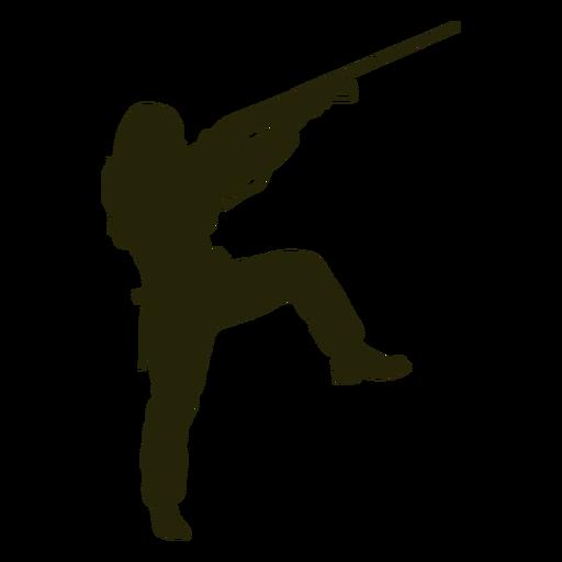 Silueta de mujer cazando