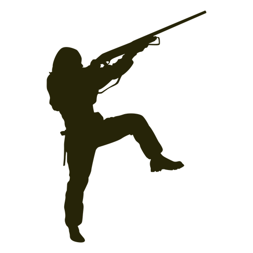 Woman hunting silhouette