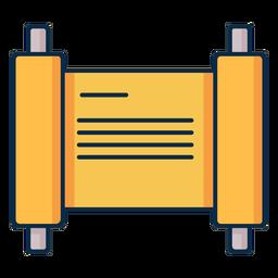 Icono de escritura de pergamino amarillo