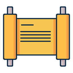 Yellow parchment writing icon