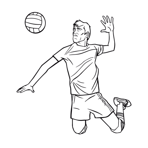 Volleyball player male spiking stroke