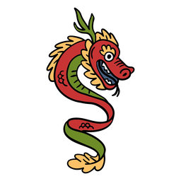 Hand drawn chinese dragon