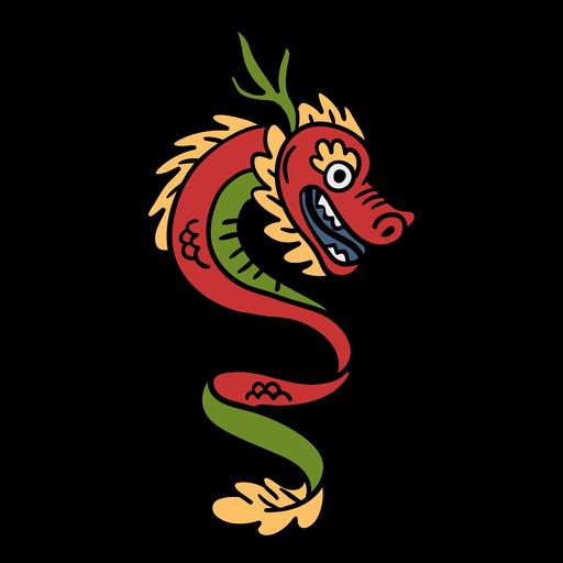 Dragão chinês desenhado à mão
