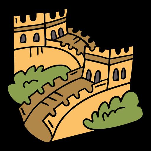 Gran muralla china dibujada a mano