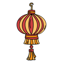 Hand drawn chinese lantern