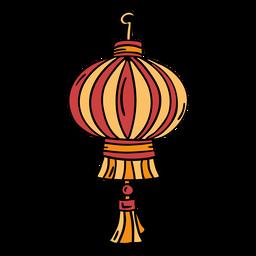 Linterna china dibujada a mano