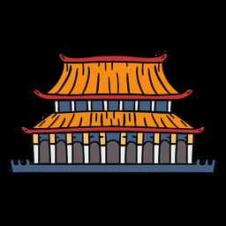 Palacio chino dibujado a mano
