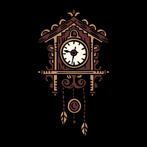 Reloj clásico coo coo dibujado a mano Transparent PNG