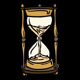 Reloj de arena clásico dibujado a mano