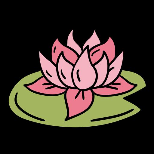 Hand drawn floating lotus