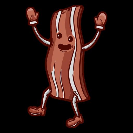 Hand drawn friendly face bacon