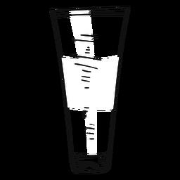 Curso de tubo de tinta desenhada de mão