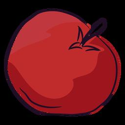 Hand drawn red tomato