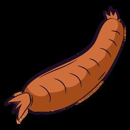 Salchicha dibujada a mano marrón