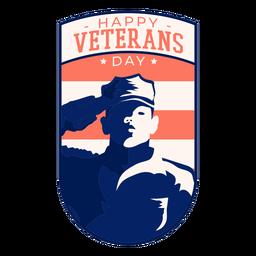 Feliz dia dos veteranos distintivo