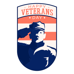 Happy veteran day badge