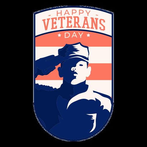 Insignia del feliz día de los veteranos