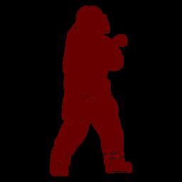 Helmet firefighter silhouette