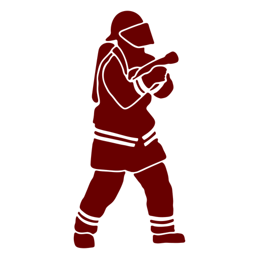 Helmet firefighter silhouette Transparent PNG