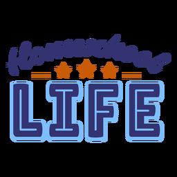 Homeschool life lettering