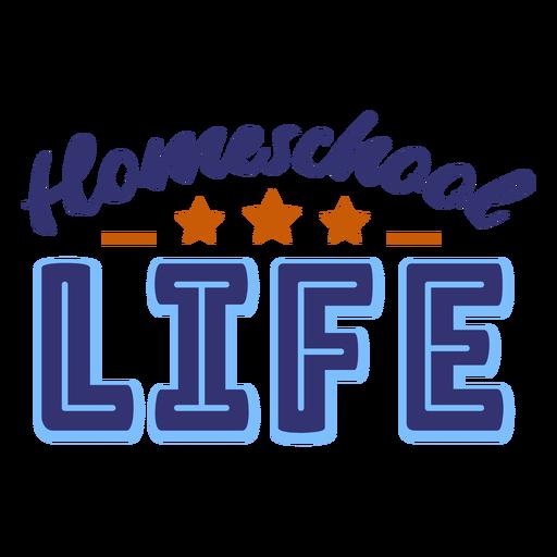 Letras de la vida en el hogar Transparent PNG